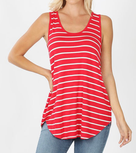 Red White Striped Tank