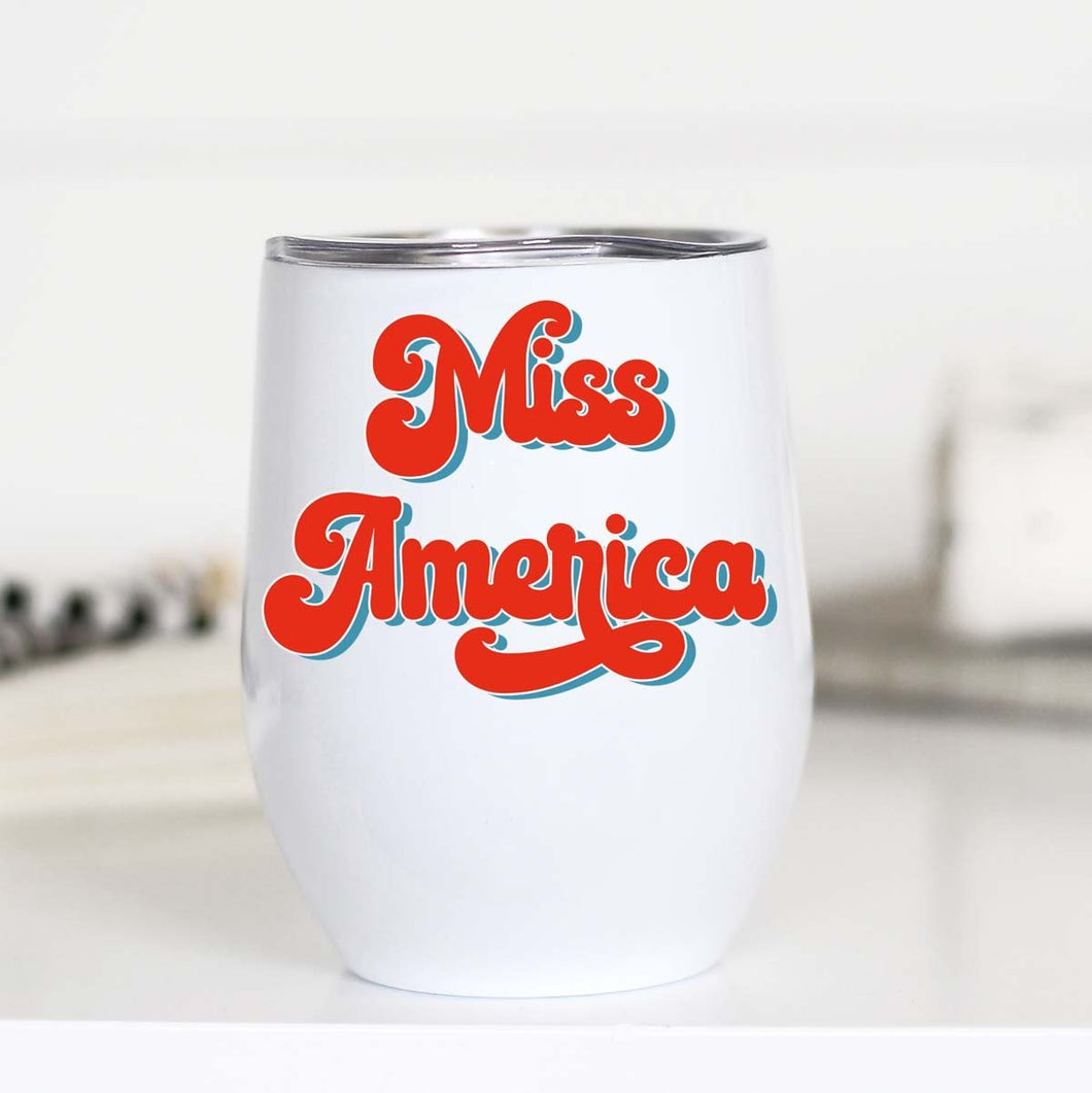 Miss America Insulated Wine Cup