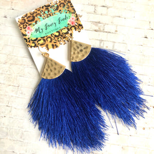 Fly Away With Me Royal Blue Earring