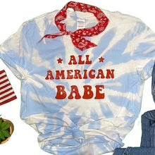 All American Babe tie dye Graphic Tee