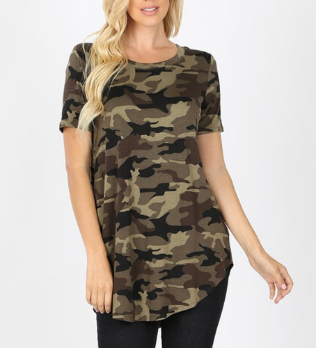 Camouflage Short Sleeve Top