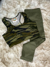 Camo Green Athleisure Bra top