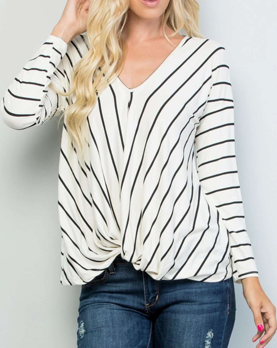 Ebony and Ivory Twisted top