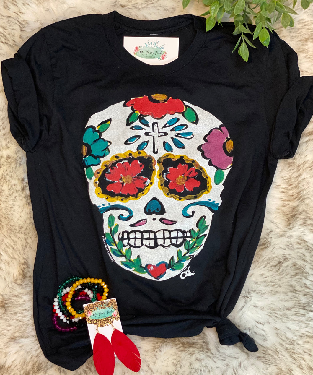 Colorful Skully graphic tshirt