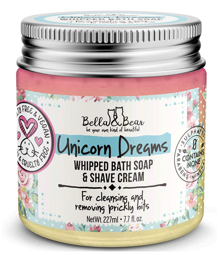 Unicorn Dreams whipped bath soap and shave cream