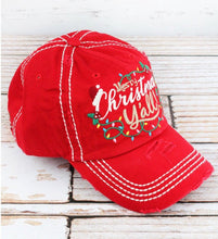 Merry Christmas Y'all baseball cap