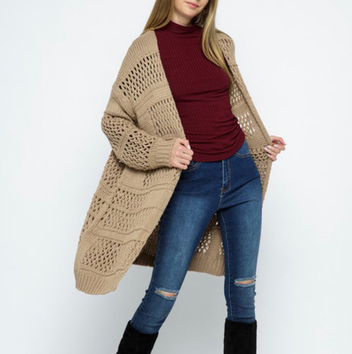Chunky loose knit cardigan