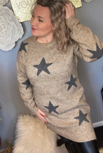 Shoot for the stars sweater dress