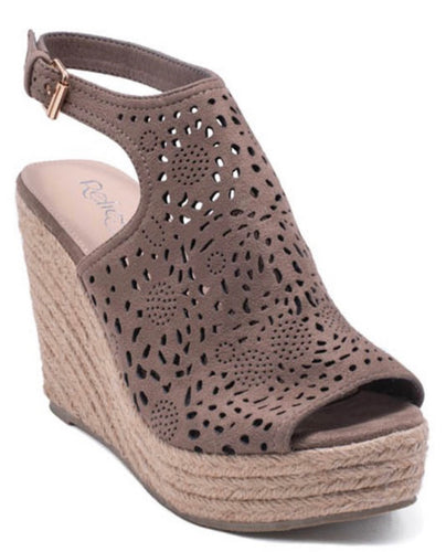 Mocha Mandala Summer Wedge