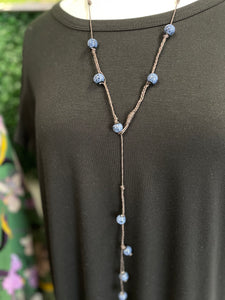 Atlanta Lost & Found Boho crochet beaded necklace