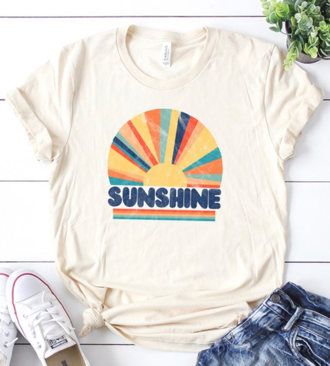 Vintage Sunshine Distressed Graphic Tee