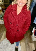 Ruby Red Wine teddy coat