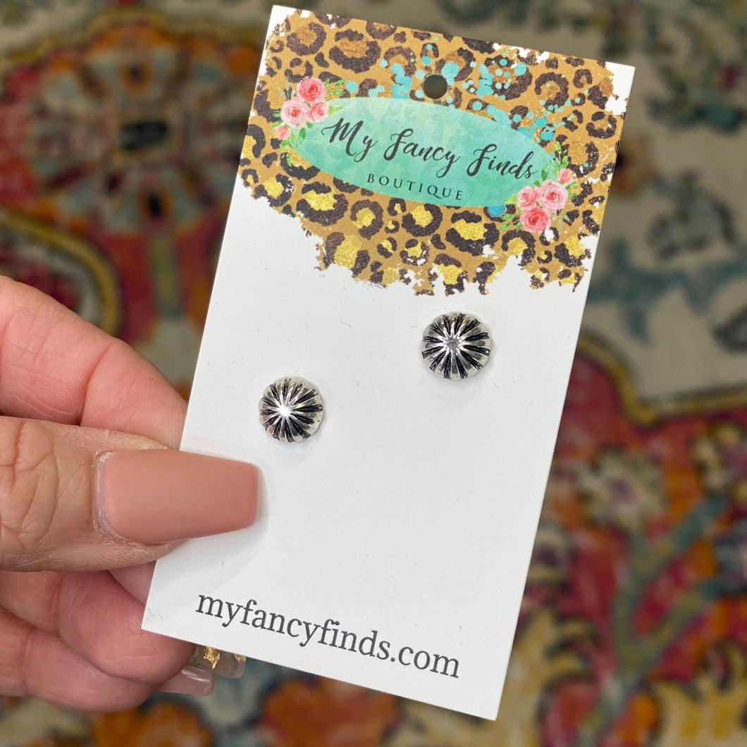 Petite Antique silver earring