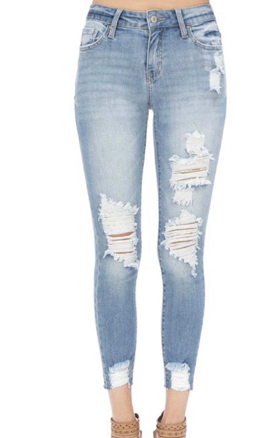 Almost Girlfriend distressed denim