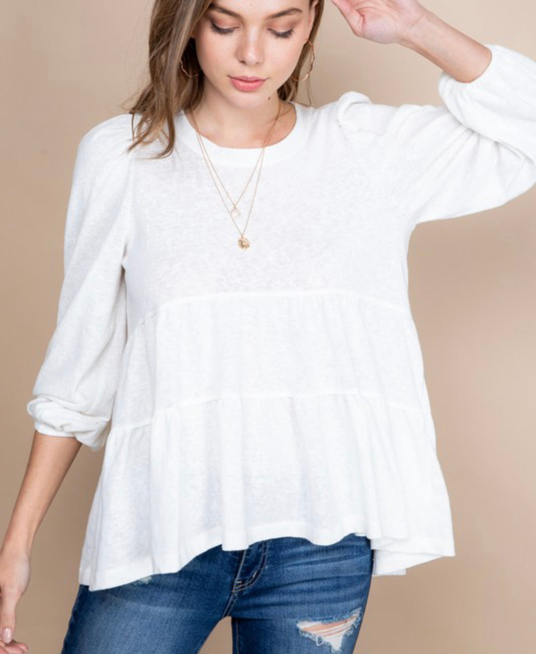 White Baby Doll top