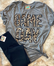 Game Day T-shirt with Leopard Lettering