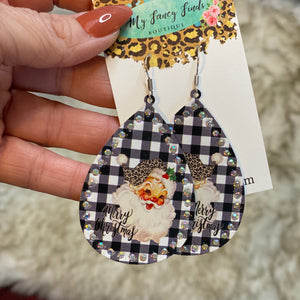 Here comes Santa earrings