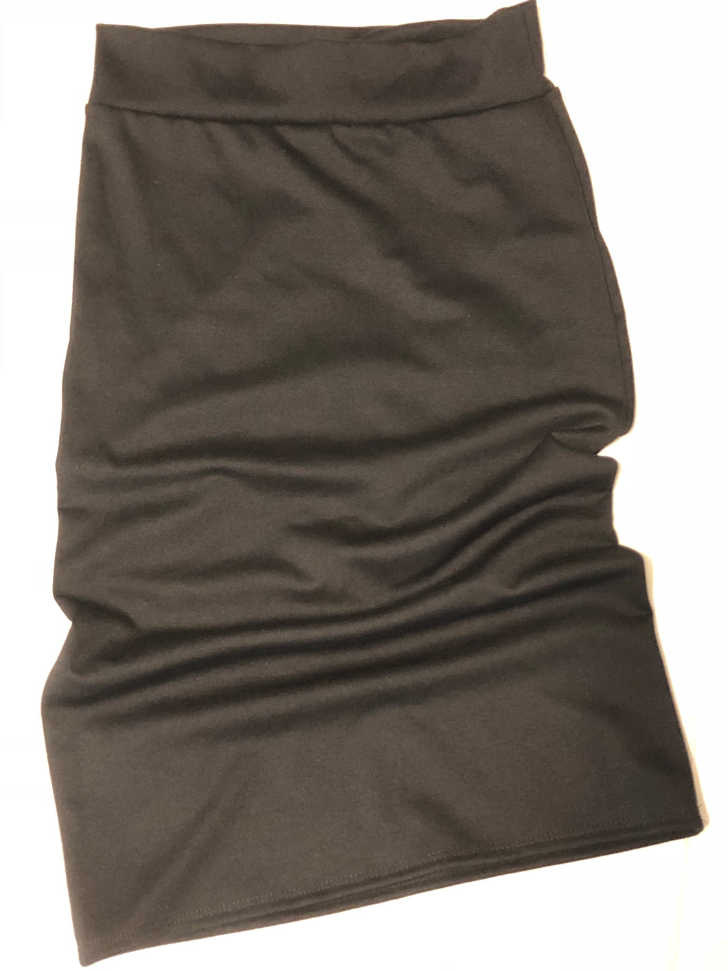 Stretch Pencil skirt Black