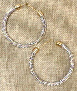Shine Bright Crystal Hoop Earrings