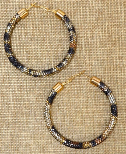 Leo Crystal Hoops