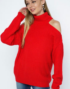 Split neck open should sweater
