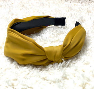 Side knot Mustard headband