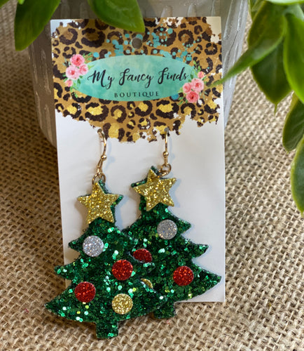 Holiday Glitter earrings