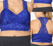 Royal Blue Lace bralette