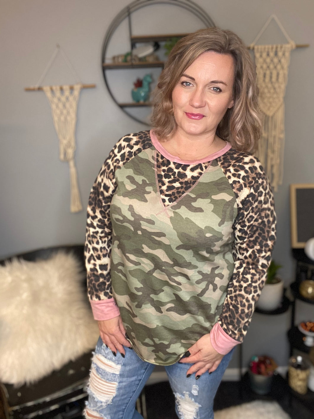 The Cammy camo top