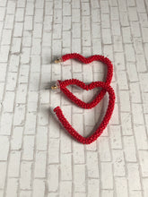 Beaded Heart Earring