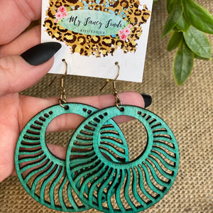 Ride the wave laser cut boho earring