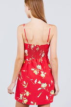 Red Floral Summer Dress