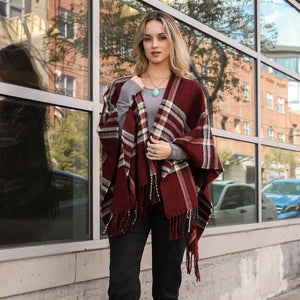 Mad for Fall plaids ruana