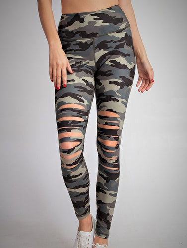 Sliced Up Camo leggings