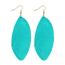 Leather Feather Fringe earring