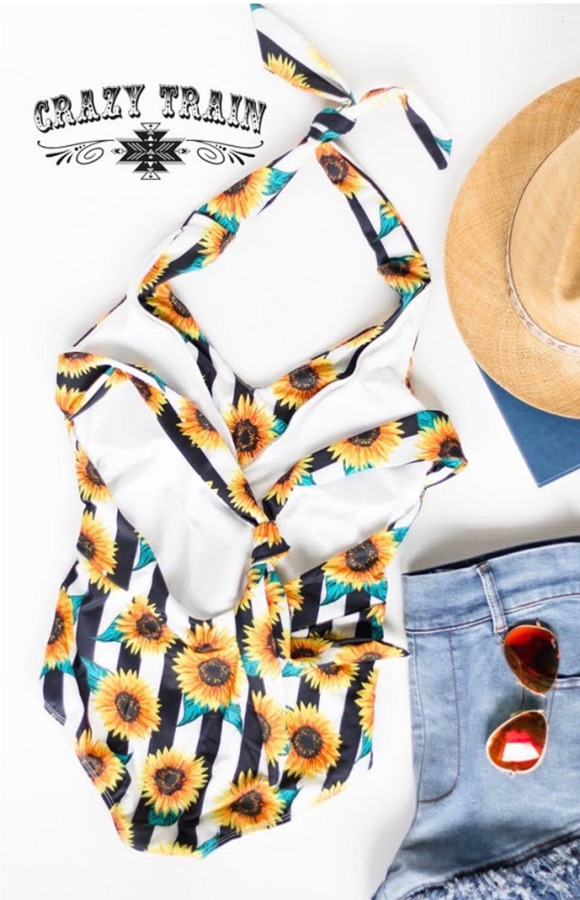 Sunflower Tie Up Swimsuit