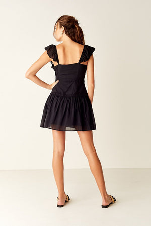 Suboo Salino Ruffled Mini Dress in Black