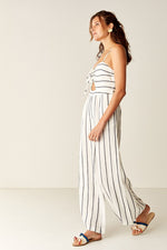 Suboo Eden Stripe Jumpsuit in Black White