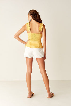 Suboo Biscay Ruffled Bodice in Yellow