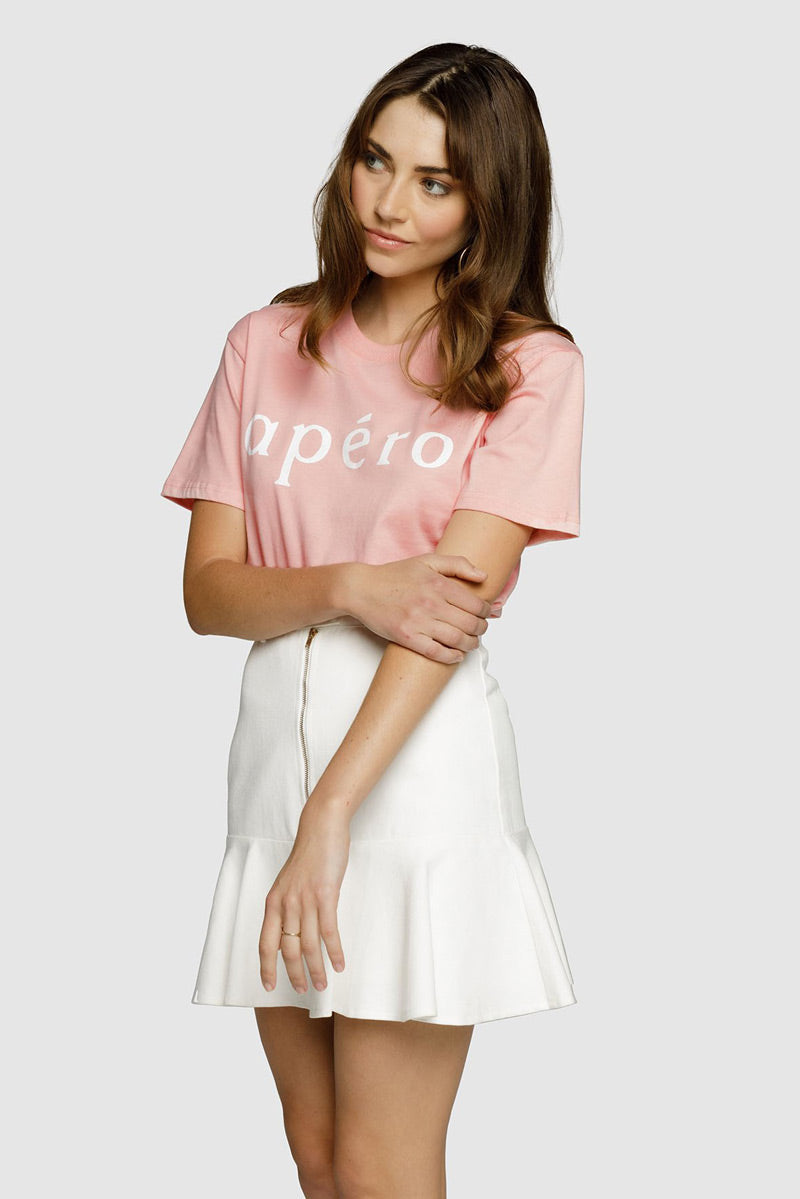 Apero Printed Tee in Dusty Pink