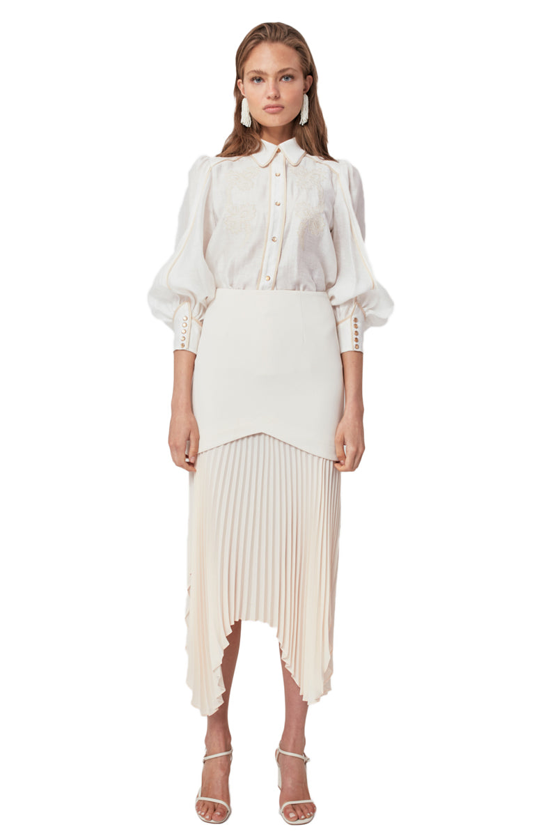 C/MEO Take Seriously Skirt in Cream