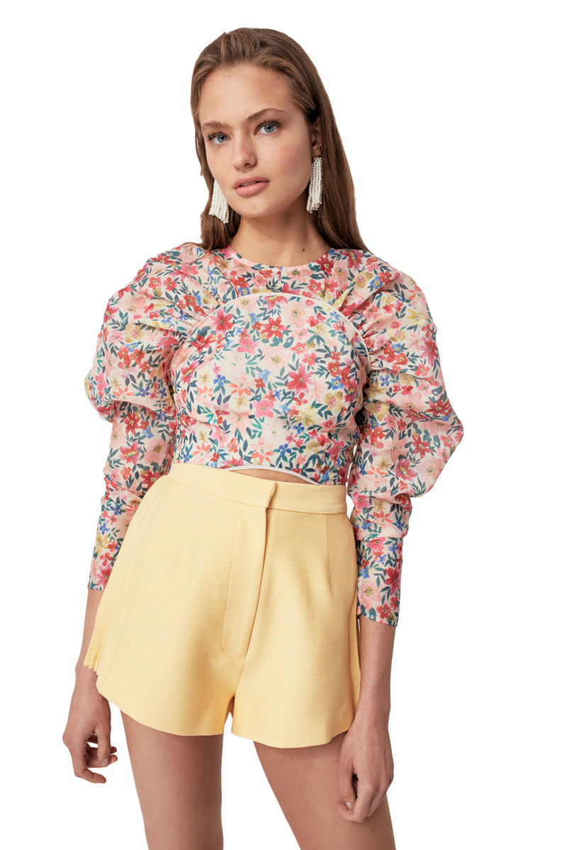 C/MEO And Ever More Top in Cream Garden Floral