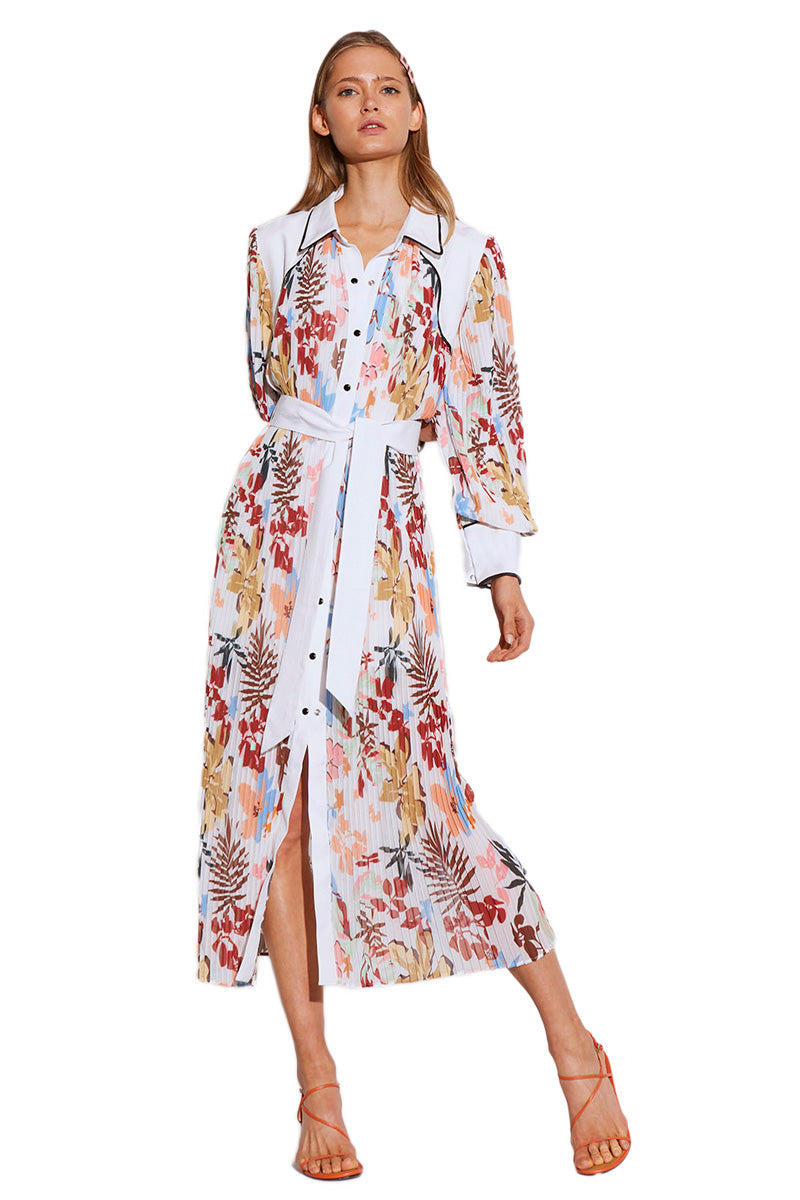 C/MEO With or Without Dress in Ivory Abstract Floral