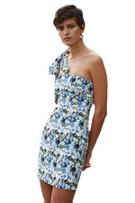 By Johnny Sky Floral Lead Shoulder Mini Dress in Floral