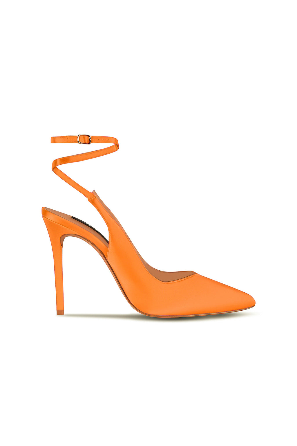 Lana Wilkinson Bec in Orange Neon Satin