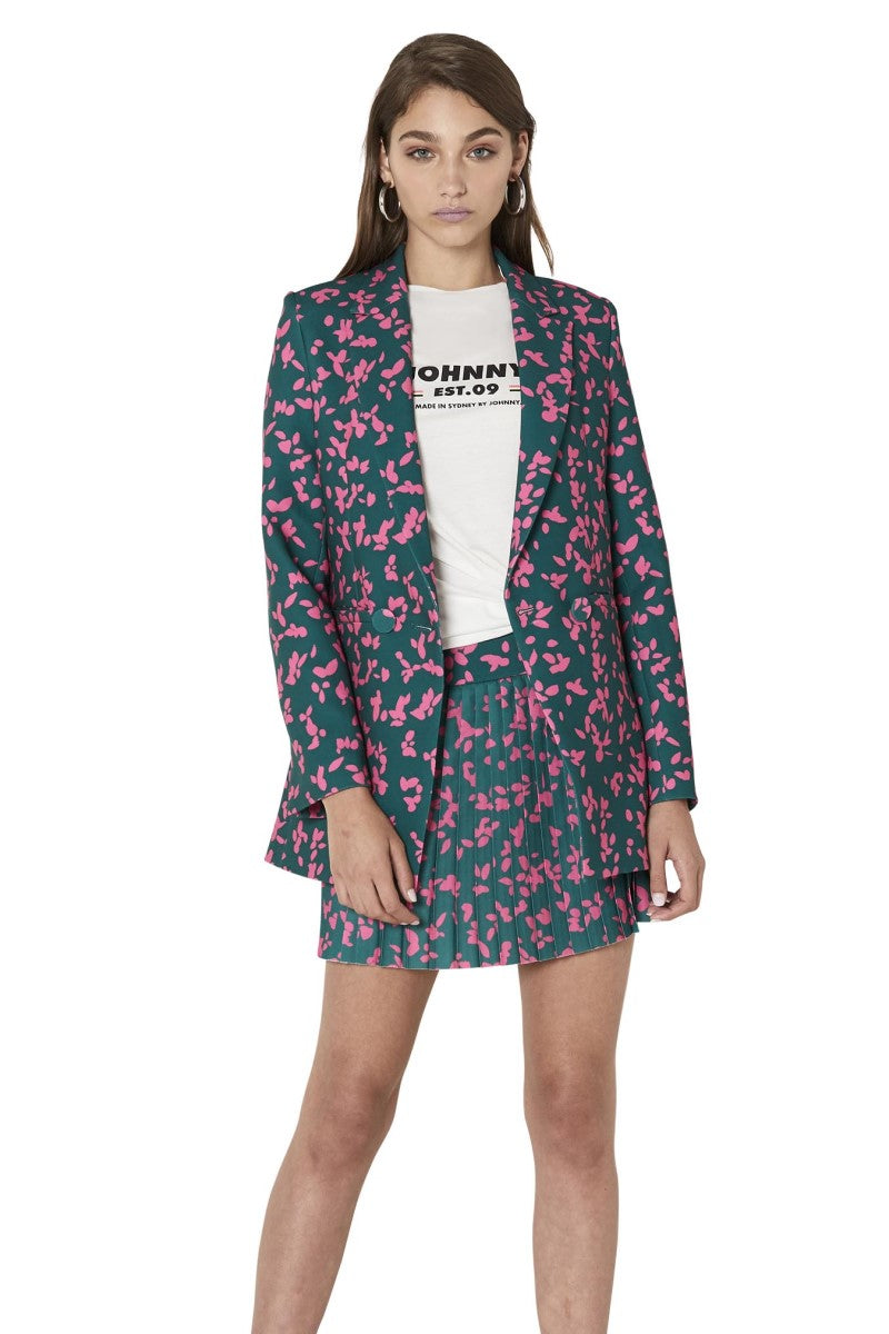 By Johnny Petal Punch Structured Blazer