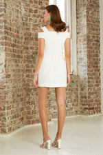 By Johnny Button Down Structured Mini Dress in White