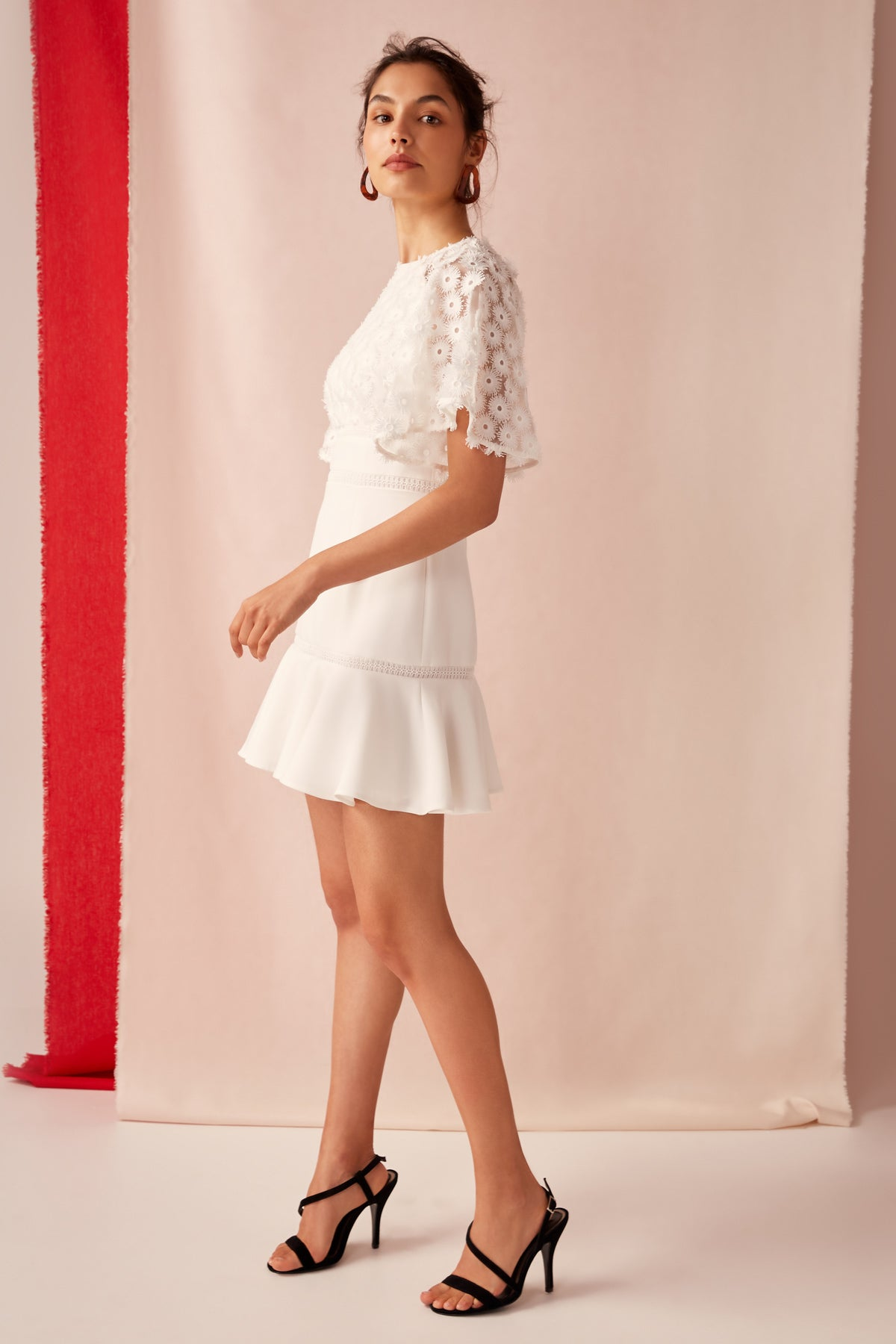 Keepsake Mirrors Mini Dress in Ivory