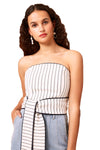 C/MEO Effigurate Top in Ivory Pinstripe