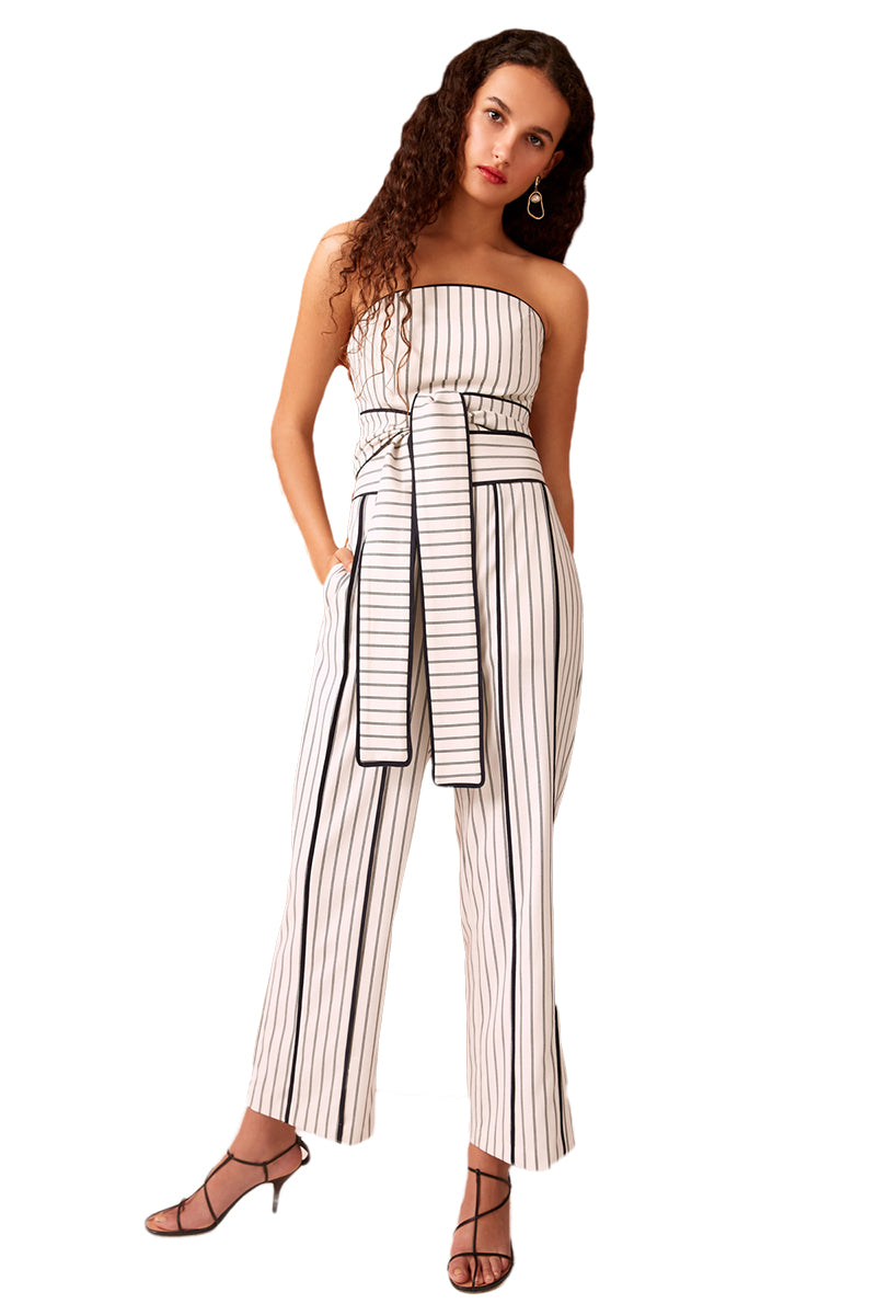 C/MEO Effigurate Pant in Ivory Pinstripe
